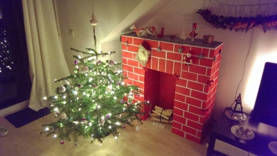 Mini Xmas Tree with Chimney