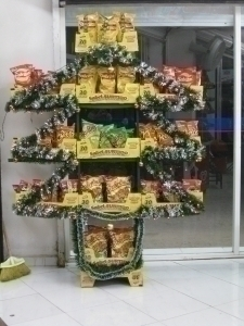 artificial Tree , with Chips and Cardboard